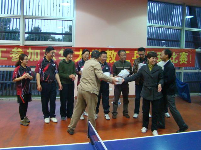 东华大学2014年东华大学教工乒乓球双打团体比赛成功举办